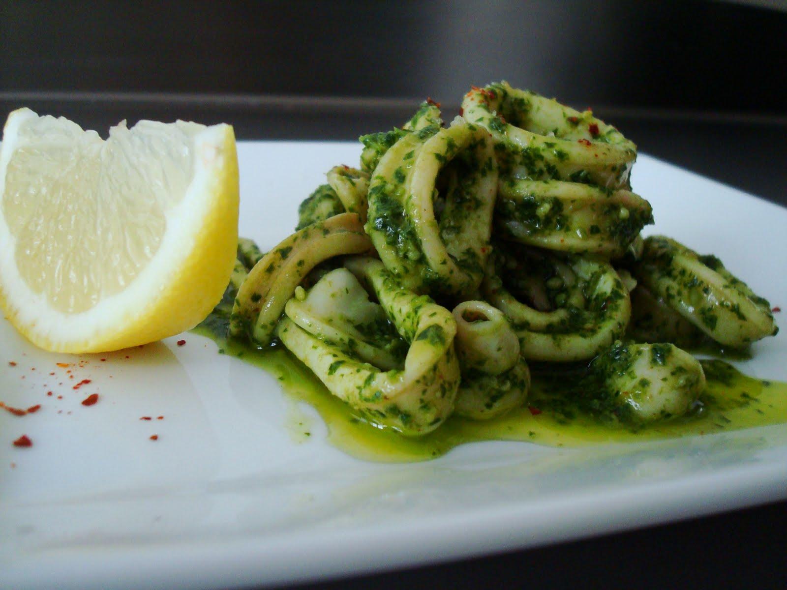 Kalamari Pesto Gastronomic Diff